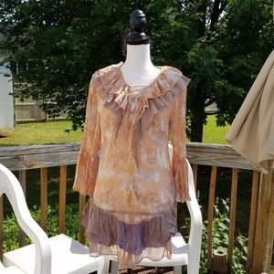 Gauzy Boho tunic top